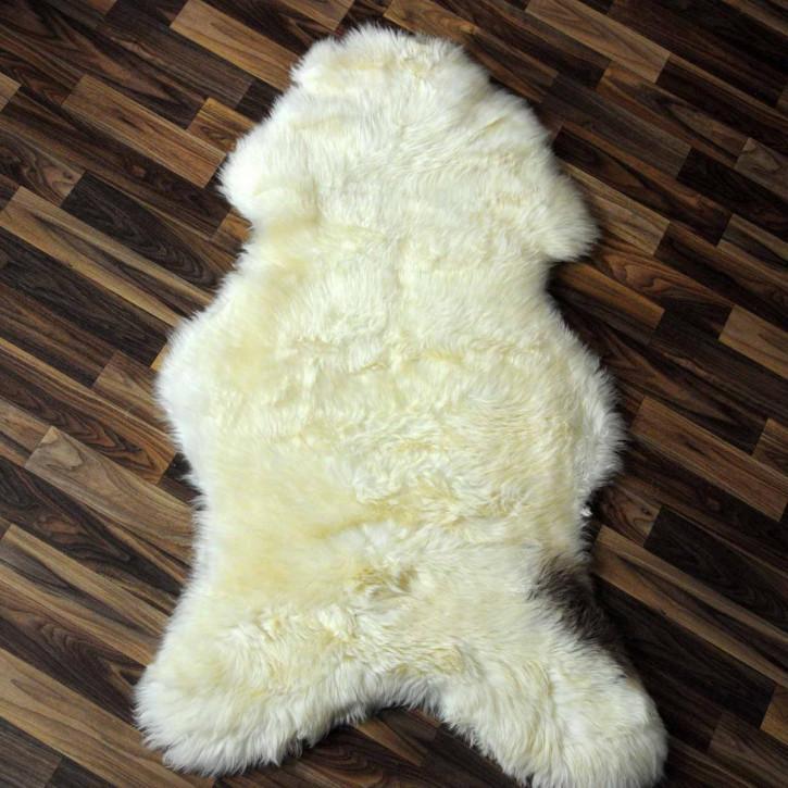 XXXL ÖKO Schaffell Fell creme weiß 130x80 sheepskin #2054