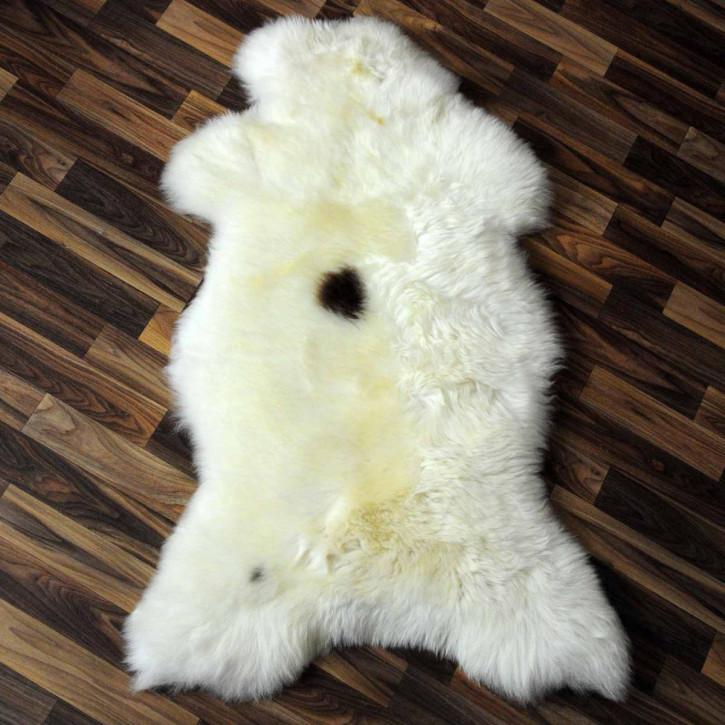 ÖKO Schaffell weiß braun geflammt 100x80 Bett #2063
