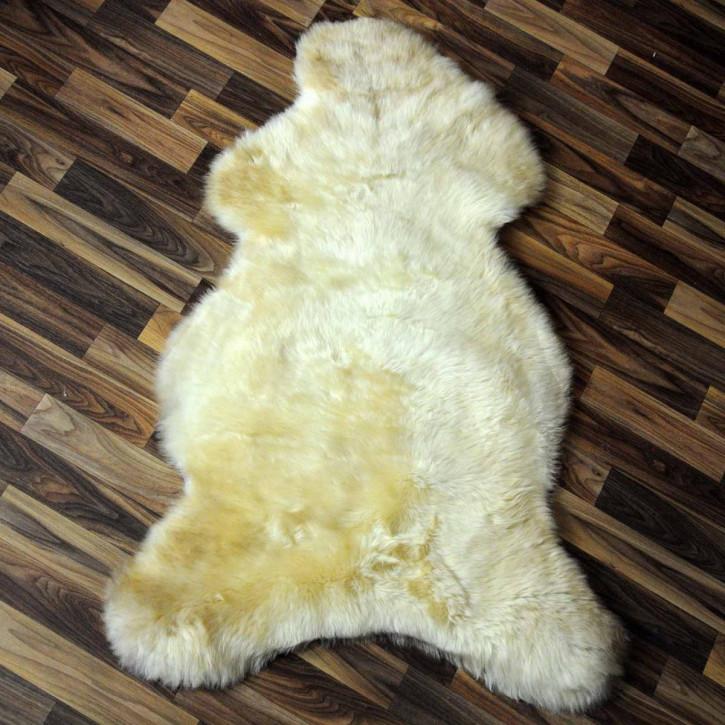 XXL ÖKO Schaffell Fell creme weiß 125x80 sheepskin #2075
