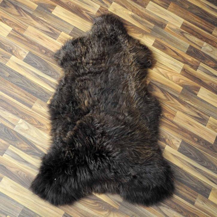 Island Schaffell grau schwarz geflammt 105x70 Auflage #2107