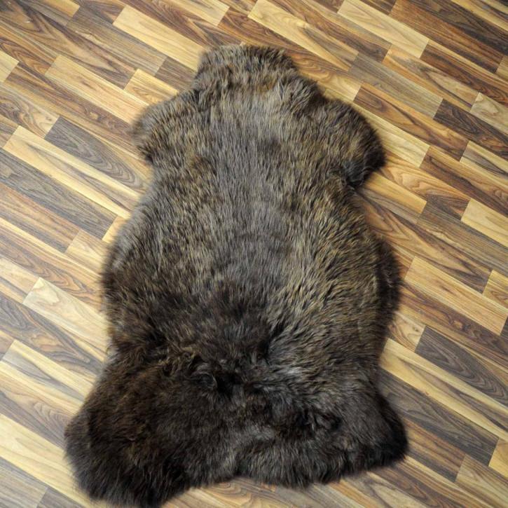 XL ÖKO Schaffell Fell creme weiß braun 110x75 Auflage #2153