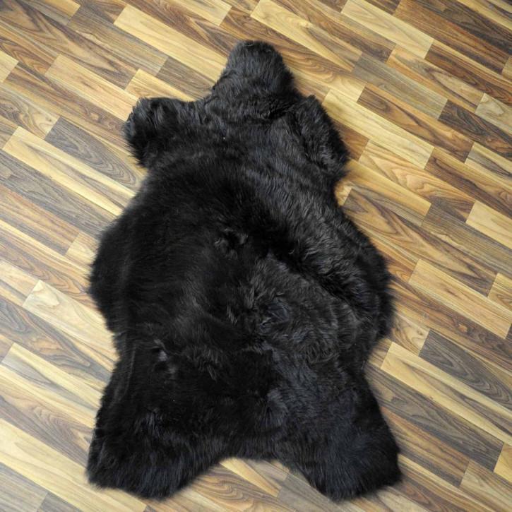 ÖKO Island Schaffell weiß schwarz geflammt 105x70 Present #2160