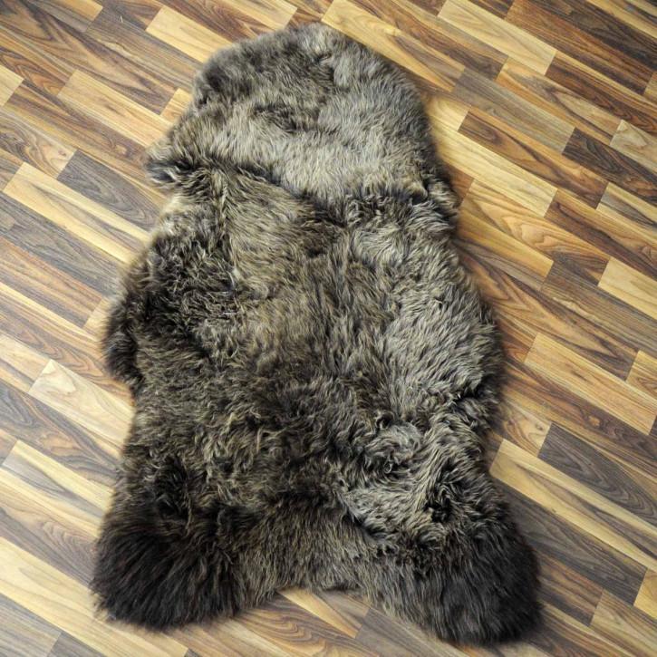 ÖKO Island Schaffell weiß schwarz geflammt 100x75 Present #2161