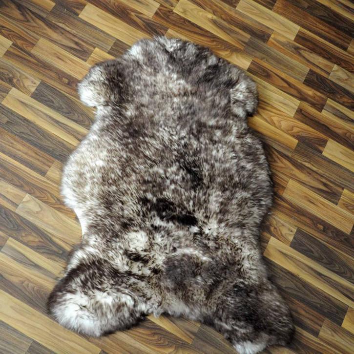ÖKO Island Schaffell weiß schwarz geflammt 105x75 Present #2162