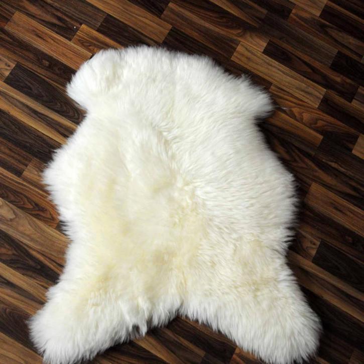 XL ÖKO Island Schaffell weiß schwarz geflammt 110x65 #2205