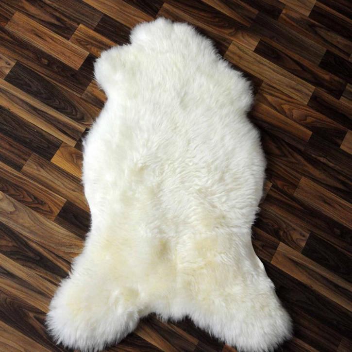 XXL ÖKO Island Schaffell weiß schwarz geflammt 120x70 #2207
