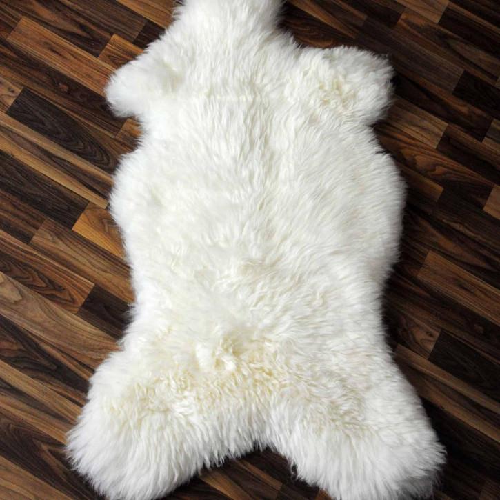 XL ÖKO Island Schaffell weiß schwarz geflammt 115x75 #2209