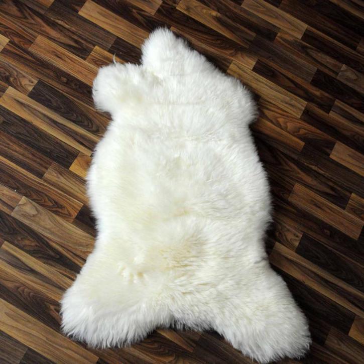 XL ÖKO Island Schaffell weiß schwarz geflammt 115x70 #2217