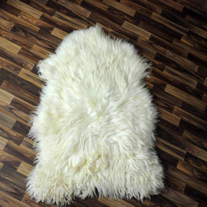 ÖKO Schaffell Fell braun 95x65 Hundebett Teppich #2348