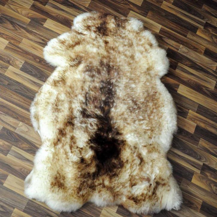 ÖKO Schaffell Fell braun 100x65 Hundebett Teppich #2353