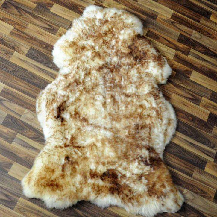 ÖKO Schaffell Fell braun 100x65 Hundebett Teppich #2363