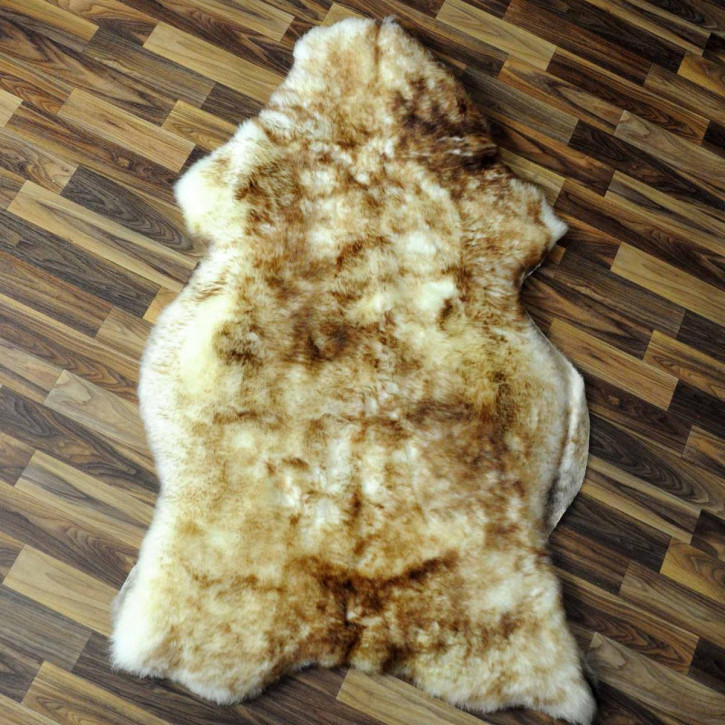 XL ÖKO Schaffell Fell braun 115x75 Hundebett Teppich #2371