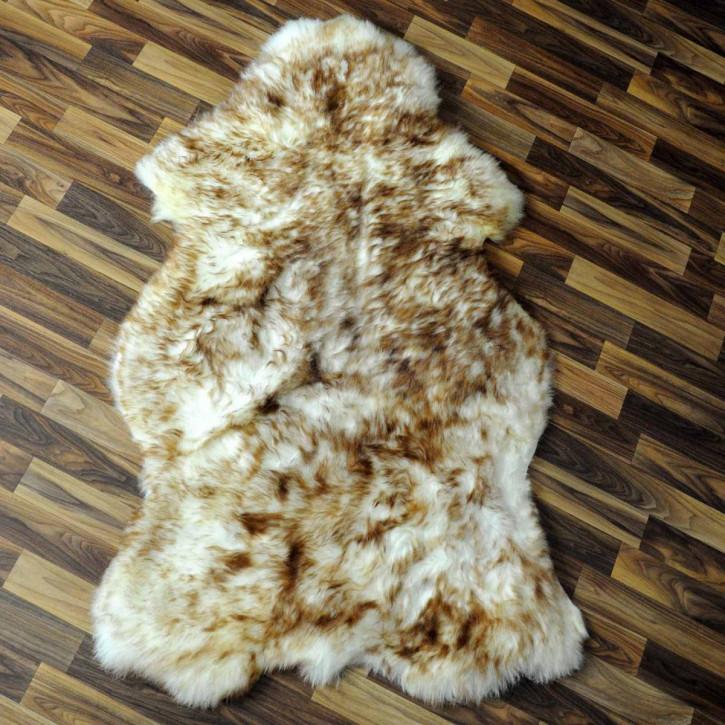 ÖKO Schaffell Fell braun 100x65 Hundebett Teppich #2372