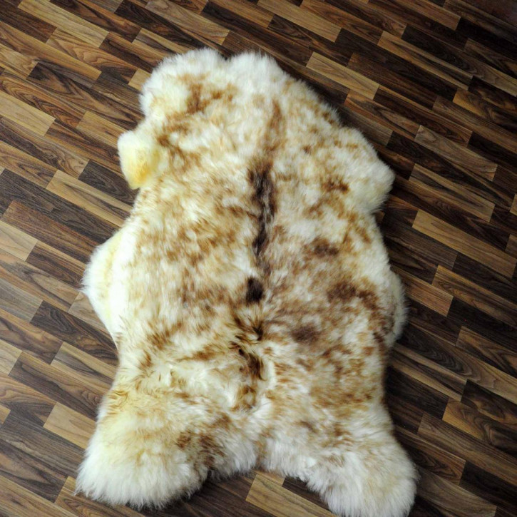 XL ÖKO Schaffell Fell braun 115x70 Hundebett Teppich #2376