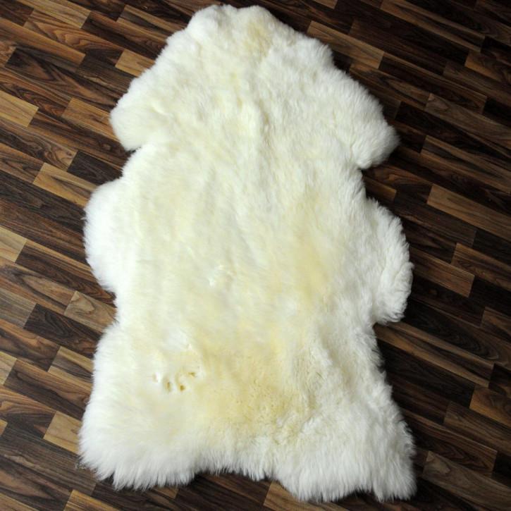 ÖKO Island Schaffell schwarz braun geflammt 100x65 #2432