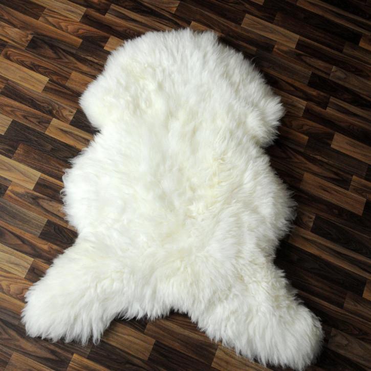 ÖKO Island Schaffell schwarz braun geflammt 105x70 #2436