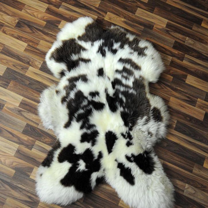 ÖKO Island Schaffell schwarz braun geflammt 105x70 #2437