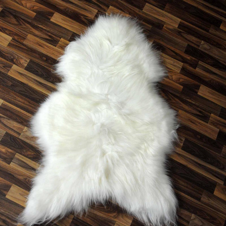 ÖKO Island Schaffell schwarz braun geflammt 100x65 #2447