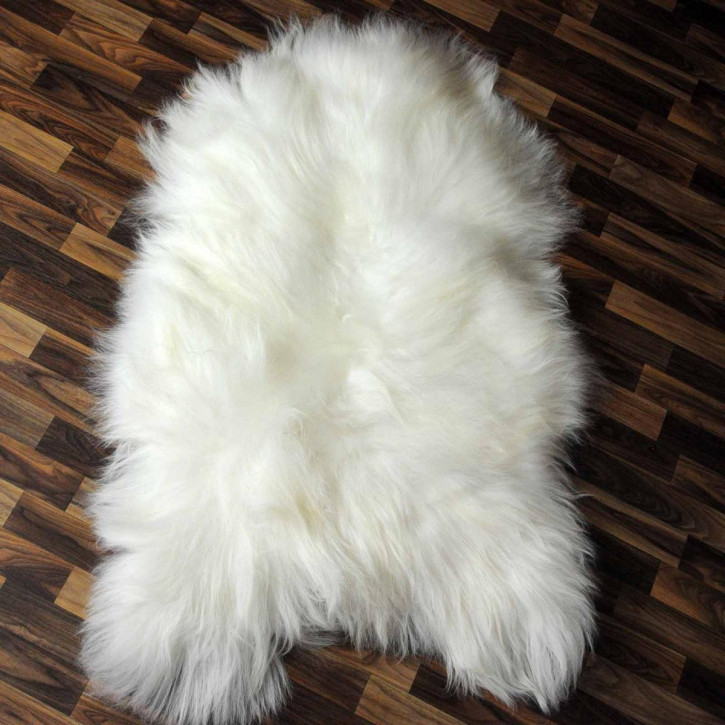 ÖKO Island Schaffell schwarz braun geflammt 100x65 #2448