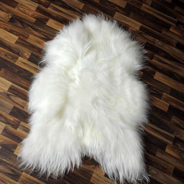 ÖKO Island Schaffell schwarz braun geflammt 105x70 #2455