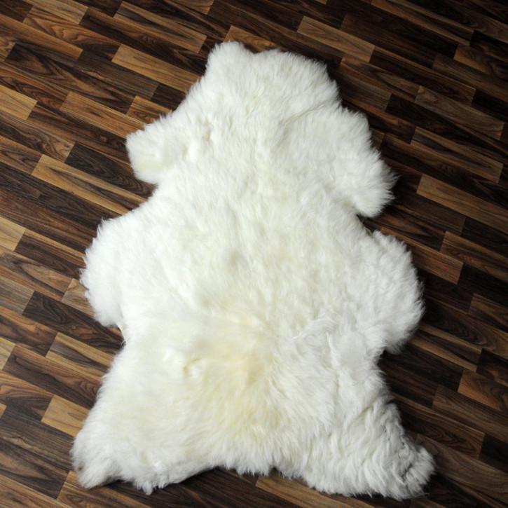 XL ÖKO Schaffell Fell braun 110x80 Hundebett #2515