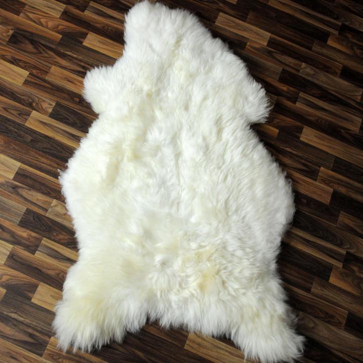 XL Schaffell Fell creme weiß 110x70 Stuhl Couch Auflage #2520