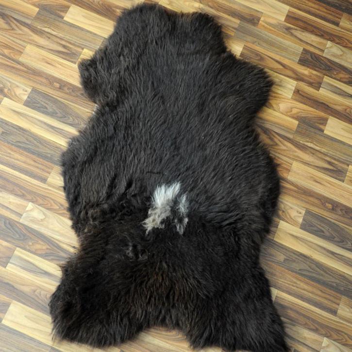 XL Schaffell Fell creme weiß 110x65 Stuhl Couch Auflage #2565