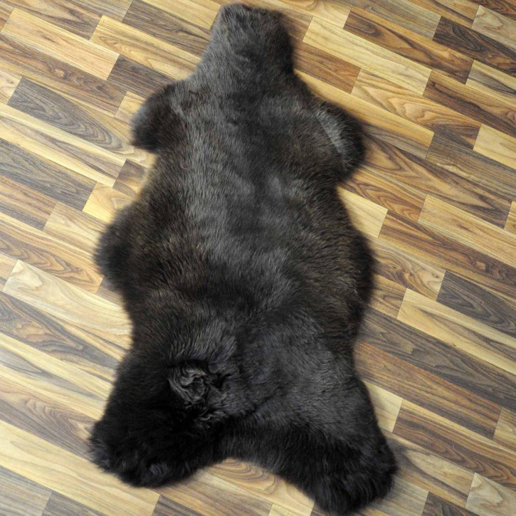 XL ÖKO Island Schaffell schwarzbraun 115x75 #2686