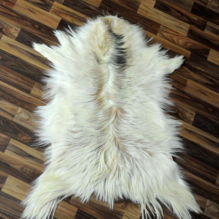 XL ÖKO Schaffell Fell creme weiß  120x70 geschoren Eisbär #2722