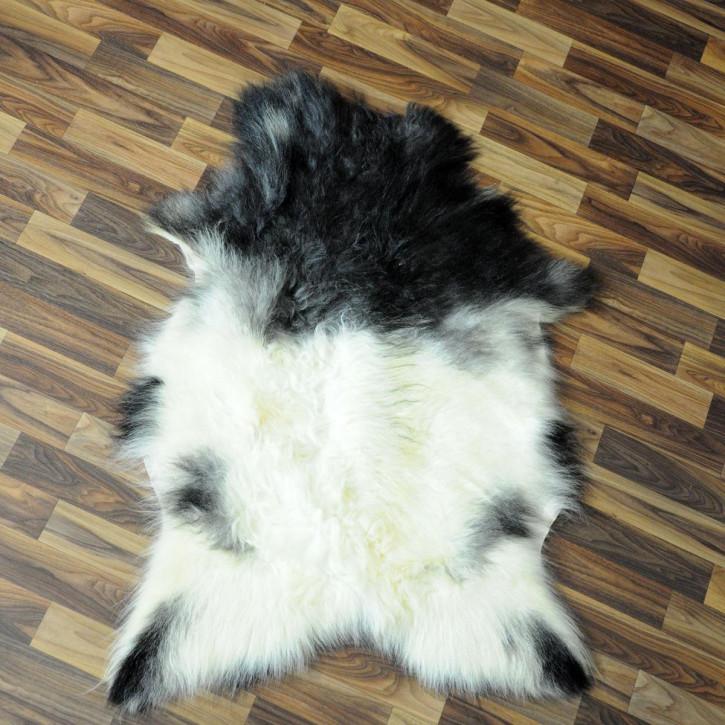 Island Schaffell grau schwarz geflammt 105x65 Auflage #2723