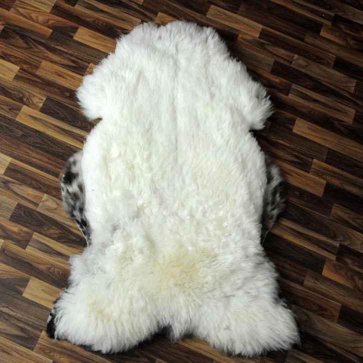 XL ÖKO Island Schaffell natur braun weiß 110x80 #2803