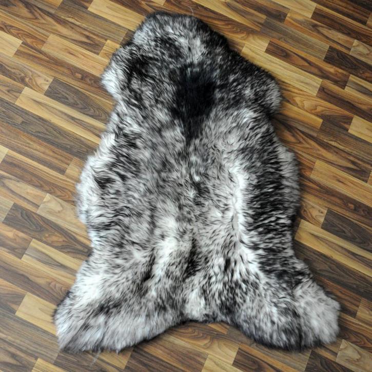XL ÖKO Schaffell Fell Lammfell braun grau 110x75 #2926