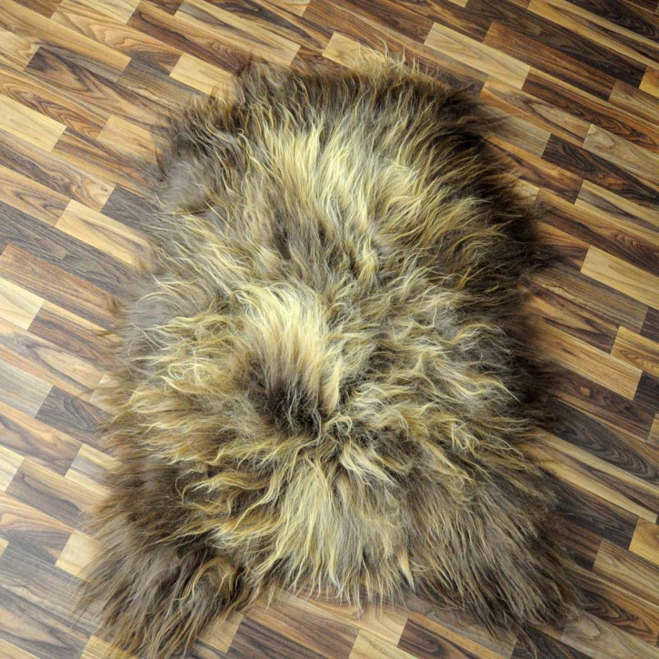 XL ÖKO Schaffell Fell Lammfell beige braun 115x65 #2944