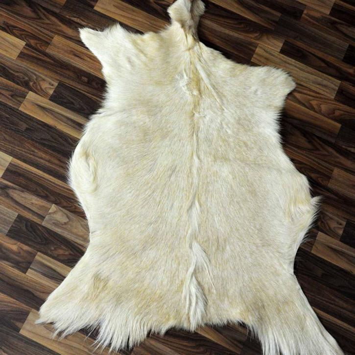 XL ÖKO Island Schaffell weiß schwarz geflammt 115x75 #3034