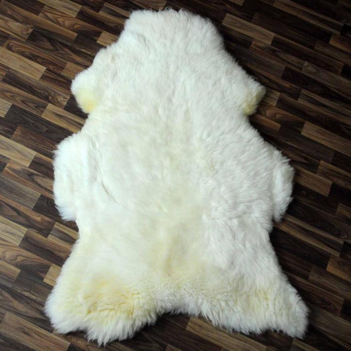 XL ÖKO Schaffell Fell braun 115x75 Braunbär Teppich #3040