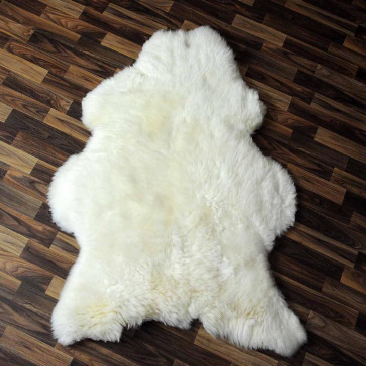 XL ÖKO Island Schaffell weiß schwarz geflammt 110x80 #3042