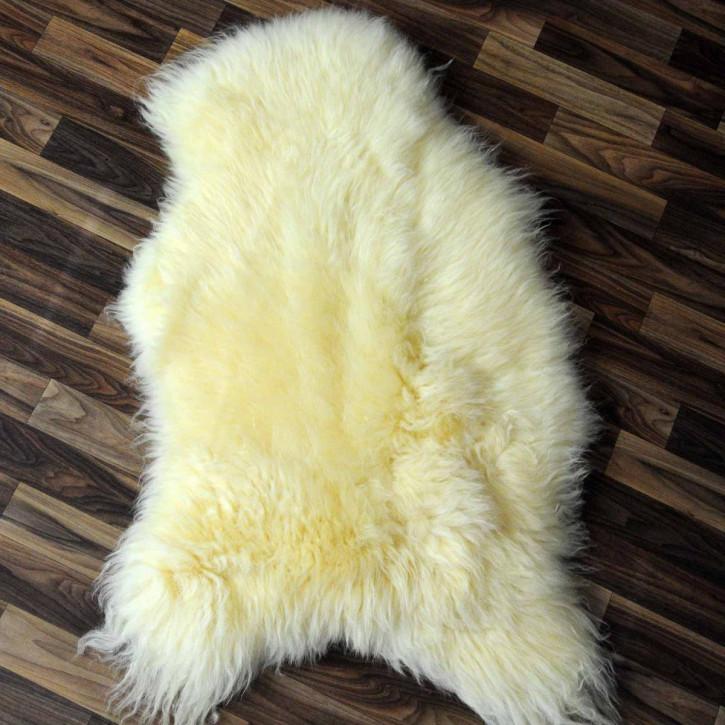 XL Schaffell Lammfell Fell beige braun 110x70 Auflage #3135