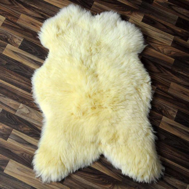 XL Schaffell Lammfell Fell beige braun 110x65 Auflage #3140