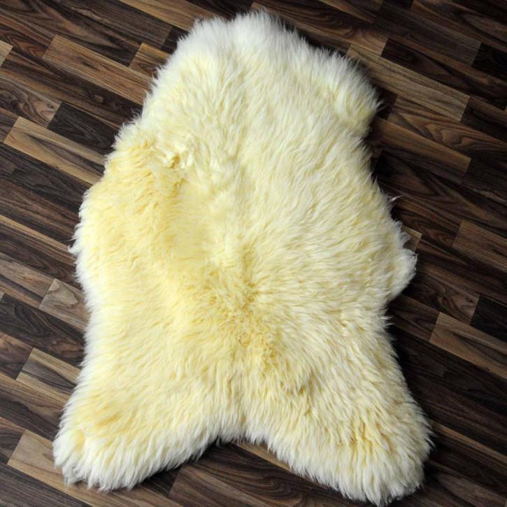 XL Schaffell Lammfell Fell beige braun 115x65 Auflage #3147