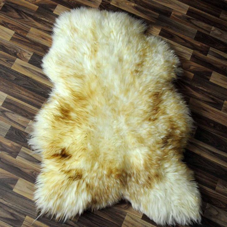 XL Schaffell Lammfell Fell beige braun 110x60 Auflage #3157
