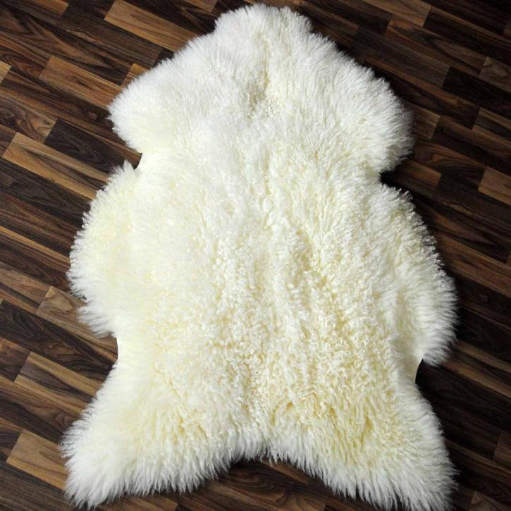 XXXL Schaffell Fell creme weiß braun 135x80 Auflage #3418