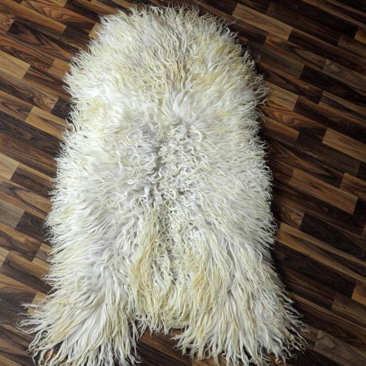 XXL Island Schaffell grau schwarzbraun 120x75 Kamin Vorleger #3427