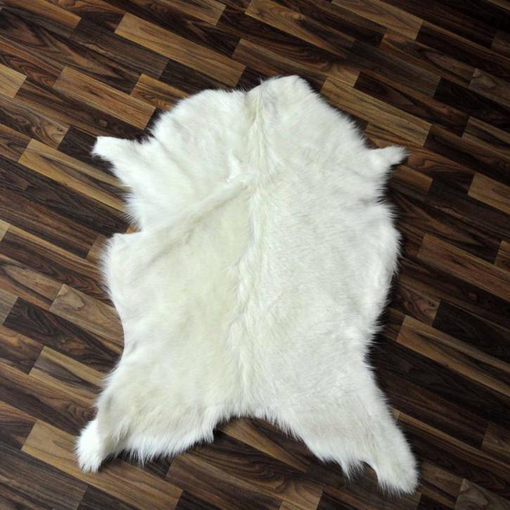 XXXL Schaffell Fell creme weiß braun 135x80 Auflage #3479