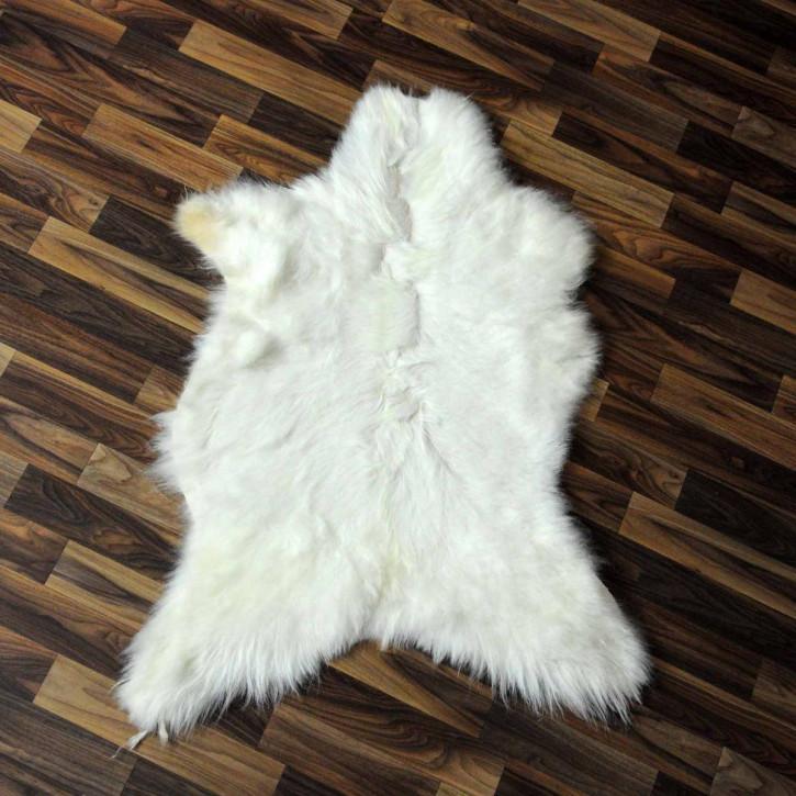 XXXL Schaffell Fell creme weiß 135x80 Auflage Teppich #3488