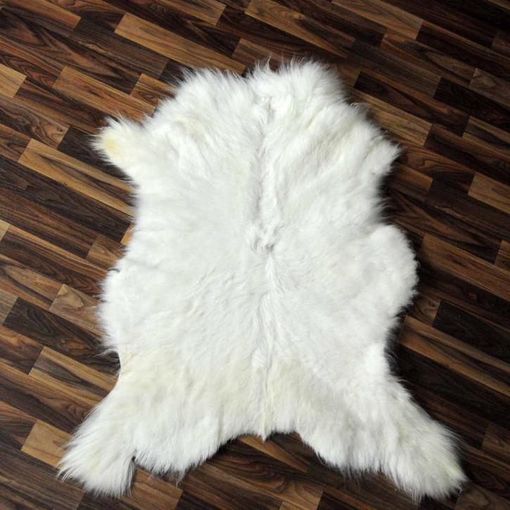 XXXL Schaffell Fell creme weiß 130x80 Auflage Teppich #3490