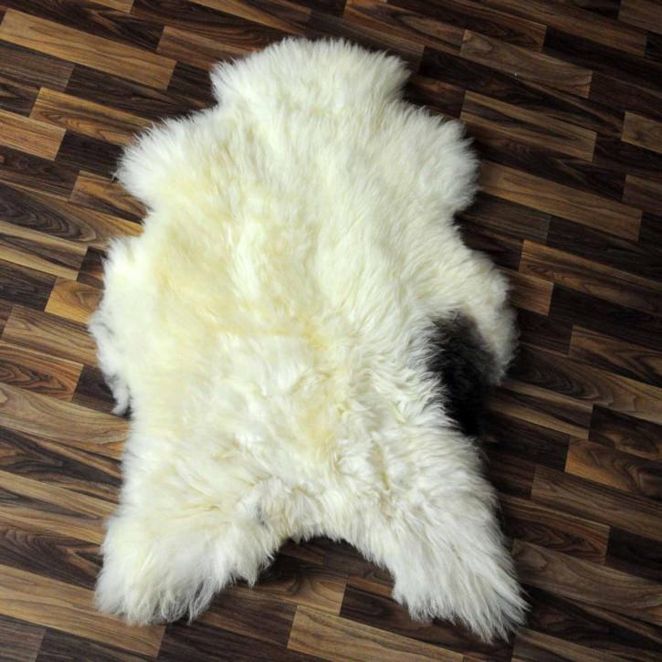 XXXL Schaffell Fell creme weiß 135x80 Couch Stuhl Auflage #3602