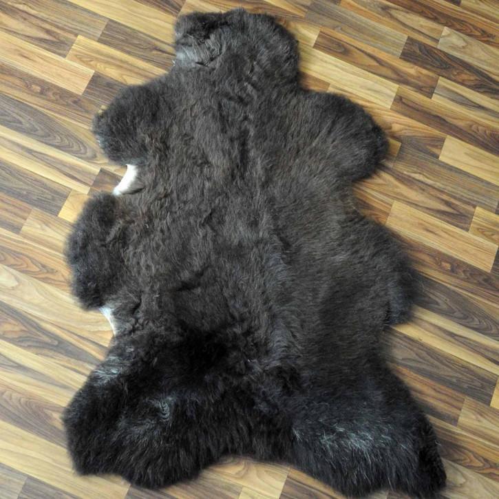 XXXL Schaffell Fell creme weiß braun 130x75 Couch Stuhl Auflage #3618