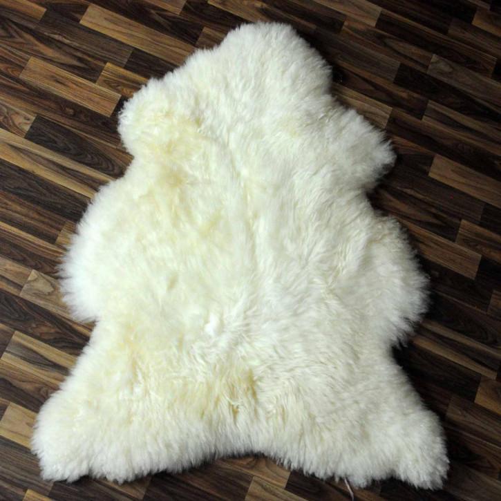 XXXL ÖKO Schaffell Fell creme weiß 130x80 Teppich #3810