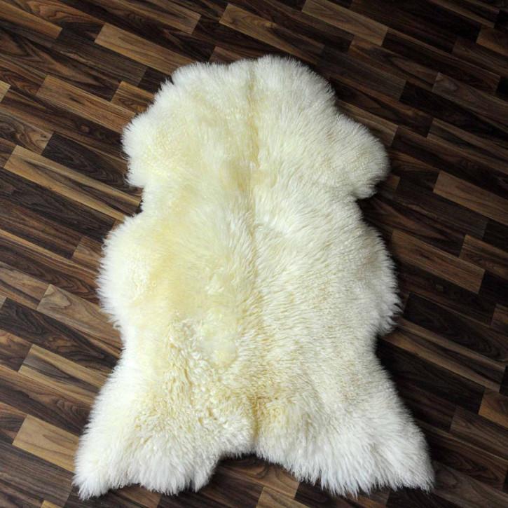 XL ÖKO Schaffell Fell creme weiß 115x75 geschoren Eisbär #3823