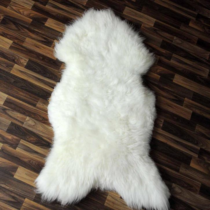 XL ÖKO Schaffell Fell creme weiß 115x75 geschoren Eisbär #3834
